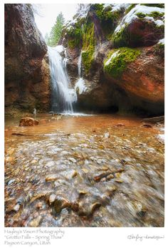 Hike to Grotto Falls in Payson - This hike leads to a very pretty little waterfall, located along the Nebo Loop Scenic Drive above the town of Payson. The trail is wide & easy, with log bridges placed at stream crossings. The Nebo Loop is renowned for its fall colors, and this is a great fall hike. It's also very nice throughout the summer. Deep snow closes the road during winter.