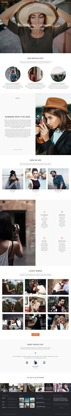 Etudes is Premium full Responsive Retina #WordPress #Portfolio Theme. If you like this Theme visit our handpicked list of best #Photography Themes at: