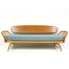Blue Ercol Studio Couch Mid Century Modern Vintage Windsor New Upholst