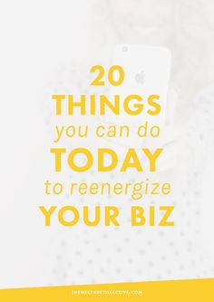 20 Things You Can Do TODAY To Reenergize Your Business | Going through a slump in your biz? Feeling less passion and more stress? As an entrepreneur and small business owner, it can be hard to ALWAYS feel excited about your business. Luckily, we're sharing 20 things you can do to fall back in love with your business, TODAY! Click through to read our 20 actionable tips.
