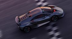 lamborghini sesto elemento hits the track for the first time - designboom
