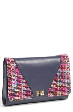 Free shipping and returns on CXL BY CHRISTIAN LACROIX 'Agnes' Clutch at Nordstrom.com. Color-pop tweed provides an eye-catching upgrade for a mixed-media clutch furnished with a goldtone chain strap that offers effortless styling versatility.