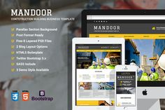 Mandoor - Construction Web Template by yamathemes on Creative Market