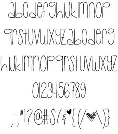 Baby Lexi font by ByTheButterfly - FontSpace