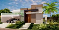 KSK luxury// Stelio's Karalis// The new Luxury concept: expensive cars, expensive stuff and small minimalist house// fachada-bonita. Residential Architecture, Contemporary Architecture, Architecture Design, Dream Home Design, Modern House Design, Style At Home, Facade House, House Front, Minimalist Home