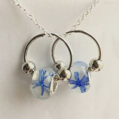 New Murano Glass Bead Earring Silver LampworkCharm New Murano Glass Bead Earring .925 Silver Lampwork ~Pandora Style Charm~~Hoop Earring~Color Blue/White Star~Bead~Comes in Sheer Jewelry Bag~ Murano Jewelry Earrings
