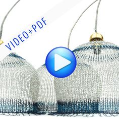 Wire Lampshade Pattern Crocheted Light Pendant DIY Home Decor Instructions VIDEO tutorial and PDF ebook