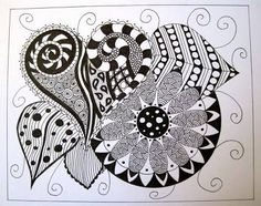 Zentangle, or Zendoodle, is the new drawing craze that everyone's talking about! Whether you're a doodler or an experienced artist, you can Zentangle! Zen Doodle, Doodle Art, Tangle Art, Printable Quotes, Beautiful Tattoos, Sharpie, Dark Art, Tangled, Anime Guys