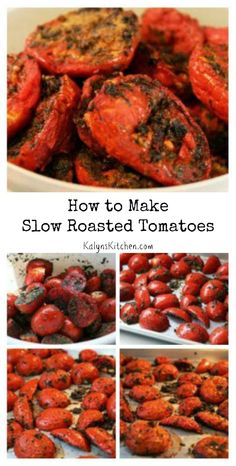 Slow roasted tomatoes, Roasted tomatoes and Tomatoes on Pinterest