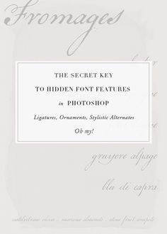 How-to Access Hidden Font Features via Besotted