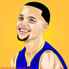 Steph Curry for MVP - Art piece inspired by Stephen Curry, an American professional basketball player considered by some to be the greatest shooter in NBA history. Let us draw You on Fiverr.com/DrawTweets