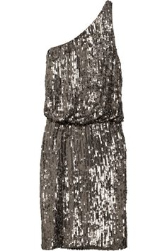 Halston Heritage One-shoulder sequined crepe dress Sparkly Outfits, Cute Outfits, Sparkly Clothes, Dressy Outfits, Embellished Dress, Sequin Dress, Fasion, Fashion Outfits, Halston Heritage