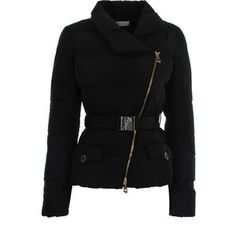 Versace Collection Belted Down Jacket