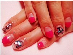 Hearts Cute Nail Designs for Short Nails