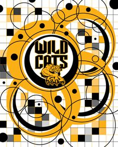 Wild Cats school folder School Folders, Community Organizing, I School, Symbols, Cats, Gatos, Cat, Kitty, Glyphs