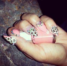 Cute pink Lepard Nails