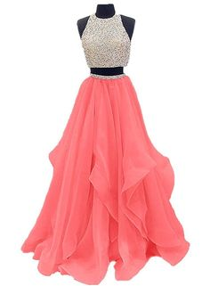 Find Dressytailor Two Piece Floor Length Organza Prom Dress Beaded Evening Gown online. Shop the latest collection of Dressytailor Two Piece Floor Length Organza Prom Dress Beaded Evening Gown from the popular stores - all in one Pretty Prom Dresses, Prom Dresses Two Piece, Hoco Dresses, Pageant Dresses, Dance Dresses, Homecoming Dresses, Cute Dresses, Formal Dresses, Prom Gowns
