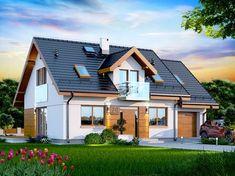 DOM PC1-62 - to funkcjonalny, atrakcyjny wizualnie dom o prostej i taniej, dokładnie przemyślanej konstrukcji, przeznaczony dla 3-6 osobowej rodziny, o eleganckiej formie i współczesnej estetyce. Jest to budynek parterowy z użytkowym poddaszem, niepodpiwniczony, z garażem jednostanowiskowym. http://pracownia-projekty.dom.pl/dn_kendra_xs_ce.htm