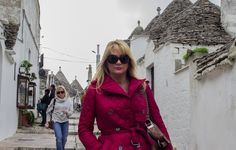 Bella D'Oliva USA founder LA Marchesi  strolling down a quaint street in Italy! Ciao Bella!