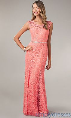 Long Lace Gown for Prom by My Michelle at SimplyDresses.com
