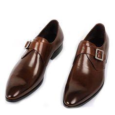 Fulinken Men Genuine Leather Monkstrap Dress Ankle Boots $107.00 ...