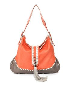 Take a look at this Orange Tassel Handbag by Carla Mancini on #zulily today!