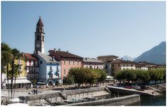 Where I live :)   #Ascona is a picturesque town on the side of the lake in the Italian part of #Switzerland