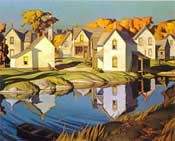 """""""The White Village"""", A. Casson, Canadian Group of Seven Canadian Art, Fine Art, Group Of Seven Paintings, Canadian Artists, Painting, Art Matters, Art, Art And Architecture, Barn Painting"""