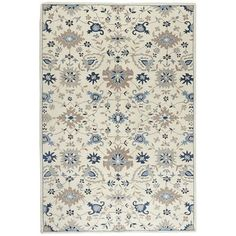 Whether you're laying the foundation for your dream home or just updating the ground level, our 100% wool rug delivers must-have comfort. With a traditional, floral-inspired pattern and neutral tone, it has a soft pile expertly hand-tufted.