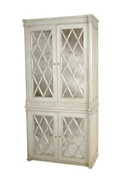 armoire with antique mirrored glass