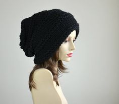 Hey, I found this really awesome Etsy listing at http://www.etsy.com/listing/87681464/slouch-beanie-slouchy-hat-black-hand