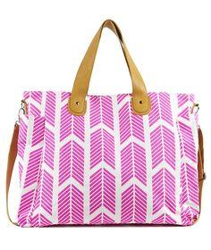 Hot Pink Arrows Weekender Tote Bag