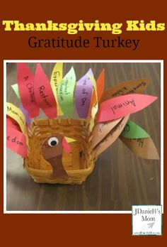 Each feather on this turkey displays something to be thankful for. As you add a feather, you talk about something in that category you are thankful for.