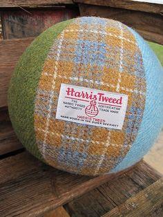 Harris Tweed Beach-ball by Tweed Delights,