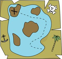 X marks the spot Treasure Maps For Kids, Pirate Treasure Maps, Pirate Maps, Pirate Theme, Pirate Party, Pirate Activities, Activities For Kids, Images Pirates, First Grade Themes