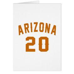 #Arizona 20 Birthday Designs Card - #giftidea #gift #present #idea #number #twenty #twentieth #bday #birthday #20thbirthday #party #anniversary #20th