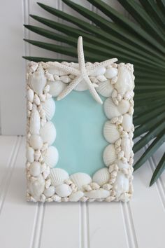 A personal favorite from my Etsy shop. Small Starfish and Seashell Frame www.starfishcottageblog.com
