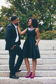 """Love Conquers Fear"" Engagement Session in Washington, D.C.: Alexis + Marcel"