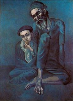 Old blind man with boy - Pablo Picasso, 1903.Pushkin Museum of Fine Art, Moscow, Russia.
