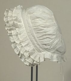 Cap 1850-60 (Actually, it covers the head so much that it could be late 1840s).