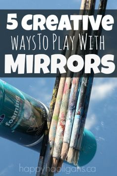 5 Fun and Creative Mirror Play Activities.  Simple to set up, and they add such…