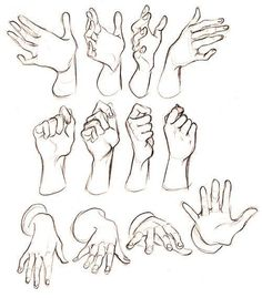 Hand gesture sketchesYou can find Hand drawings an. Body Sketches, Drawing Sketches, Art Drawings, Drawing Tips, Sketches Of Hands, Sketch Art, Sketching, Hand Drawing Reference, Art Reference Poses