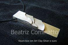 Keum-boo em Art Clay Silver e folha de ouro 24k