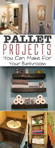 DIY pallet projects for the bathroom
