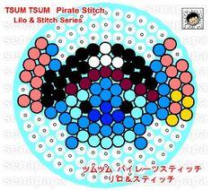 pirate stitch, tsum tsum, perler beads