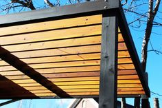 The wooden pergola is a good solution to add beauty to your garden. If you are not ready to spend thousands of dollars for building a cozy pergola then you may devise new strategies of trying out something different so that you can re Pergola On The Roof, Pergola Ideas For Patio, Pergola Decorations, Building A Pergola, Wood Pergola, Small Pergola, Modern Pergola, Pergola Swing, Cheap Pergola