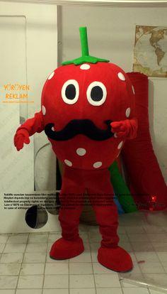 Ottoman Strawberry Mascot Costume Mascot Costumes, Minions, Ronald Mcdonald, Dinosaur Stuffed Animal, Strawberry, Toys, Ottoman, Animals, Fictional Characters