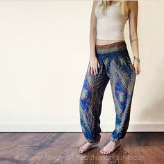 The Bohemian Lifestyle by Chanel Abriana, rocking Dark Blue Peacock Pants by One Tribe Apparel