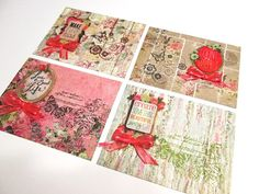 Note Cards  Set of 4 Country Roads Floral by PrettyPaperGreetings