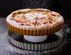 The Bojon Gourmet: Rhubarb Bourbon Brown Butter Tart with Almond Crust